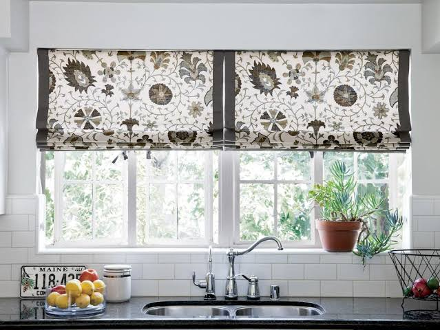 Kitchen curtain ideas above the sink