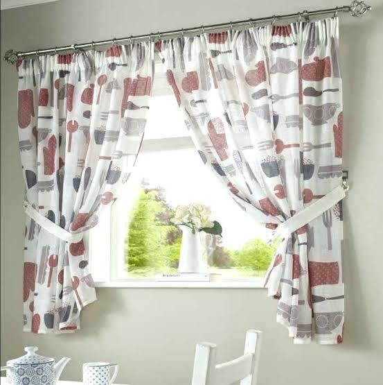 Linen fabric curtains