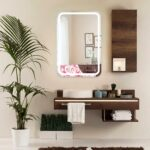 wall mirror with lights